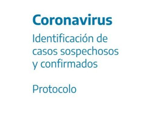 Protocolo – Identificación de casos sospechosos y confirmados